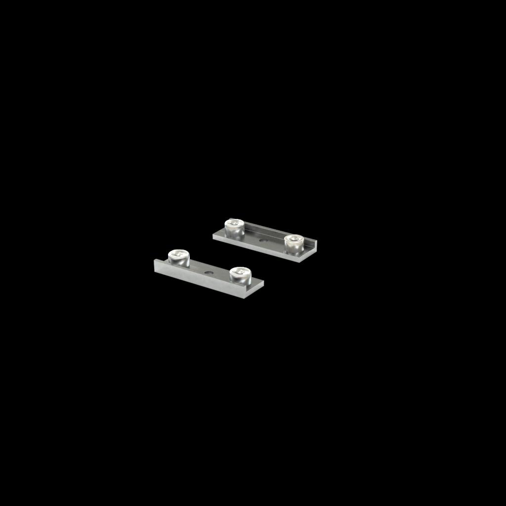 Zwei Substratklemmbacken für Parallelschraubstöcke