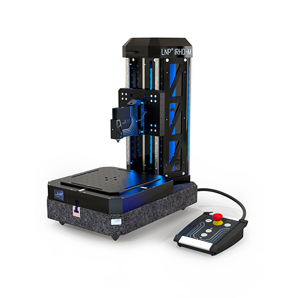 LNP IRHD-M hardness tester with DC crosstable.
